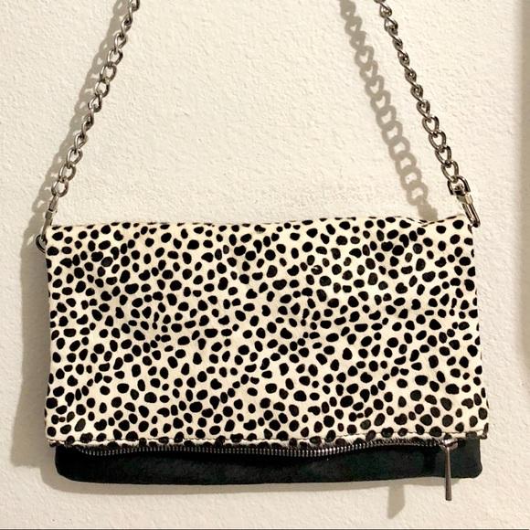 2f1e901cba5c Express Handbags - Express faux fur fold-over crossbody